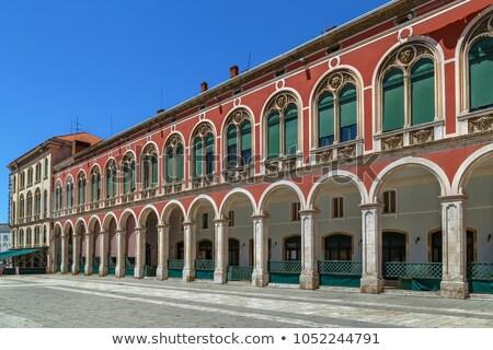 Colonnade on Republic Square, Split, Croatia Stock photo © borisb17