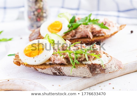 Sandwich with tuna and egg Stock photo © Alex9500