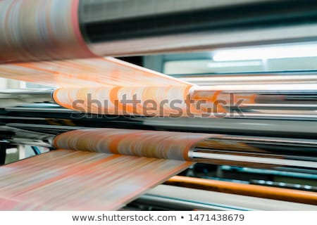 Planning printing process at factory Stock photo © pressmaster