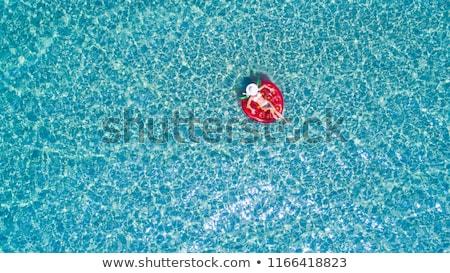 先頭 表示 小さな スリム 女性 白 ストックフォト © GVS