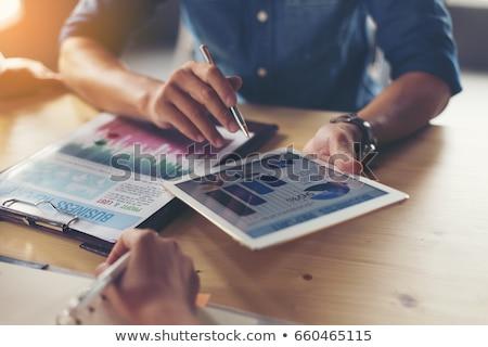 gösterge · paneli · veri · analitik · iş · dizüstü · bilgisayar · kadın - stok fotoğraf © andreypopov