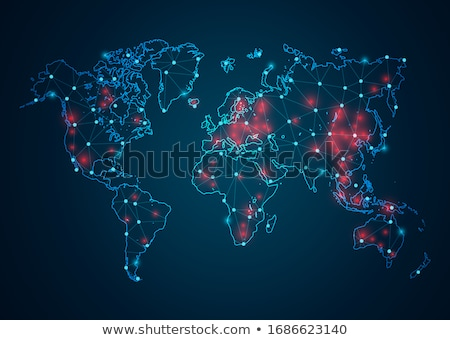Coronavirus Outbreak Blue World Map Stock photo © cidepix