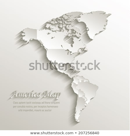 Map North America. Poster map of North America Stock photo © FoxysGraphic