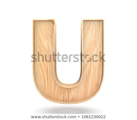 Capital letter U Stock photo © grafvision