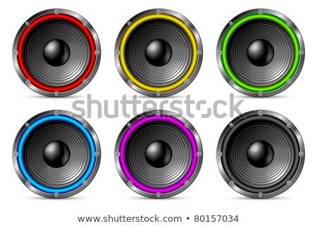 Variegated colorful speakers set. Stock photo © Leonardi