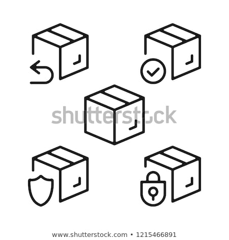 sending parcel icon vector outline illustration Stock photo © pikepicture