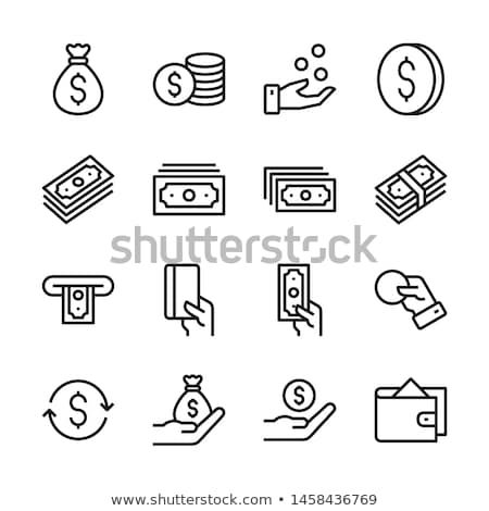 Money Banknote Icon Vector Outline Illustration Stock photo © pikepicture