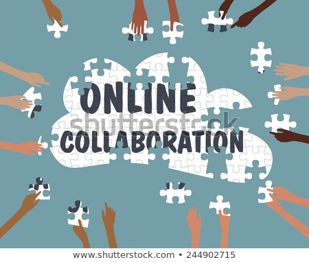 online collaboration education cloud technology Stock photo © -TAlex-