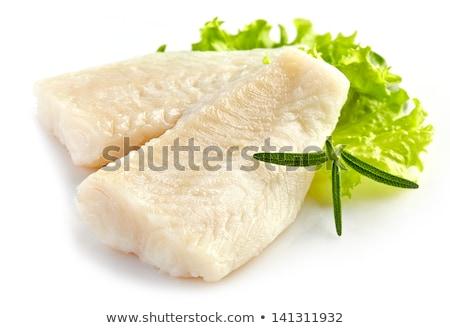 Filetto bianco pesce verdura piatto ristorante Foto d'archivio © olira