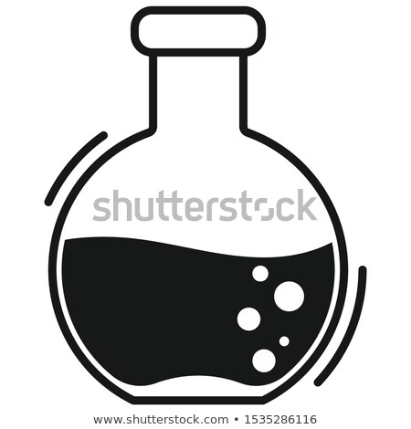 Vegyi buborékok sziluett egyszerű fekete ikon Stock fotó © evgeny89