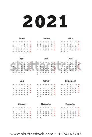 év egyszerű naptár nyelv méret függőleges Stock fotó © evgeny89
