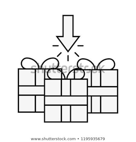 Három ajándékdobozok kattintás nyíl online vásárlás Stock fotó © yupiramos