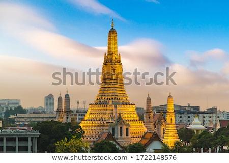 Tapınak Bangkok Tayland yaz gün gökyüzü Stok fotoğraf © bloodua
