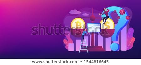 Bitcoin price prediction concept banner header Stock photo © RAStudio