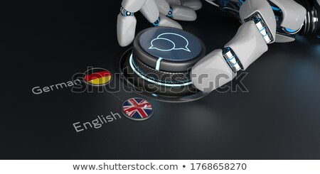 Translator Rotary Knob English German Stock photo © limbi007