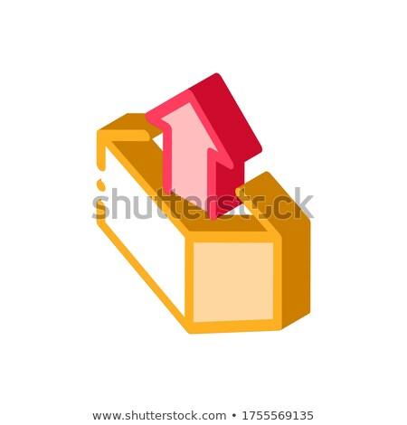 окна контейнера стрелка проворный элемент изометрический Сток-фото © pikepicture