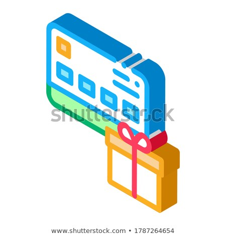 Gift Bought with Credit Card isometric icon vector illustration Stock photo © pikepicture