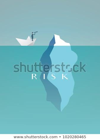 Csónak jéghegy felső hegy óceán kék Stock fotó © Imagix