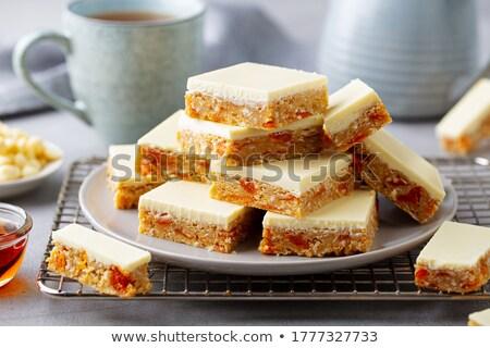 Shortcakes covered white glaze Stock photo © zhekos
