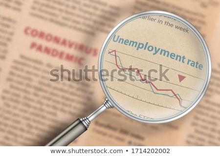 Foglalkoztatott állástalan iskolatábla munka terv háttér Stock fotó © bbbar