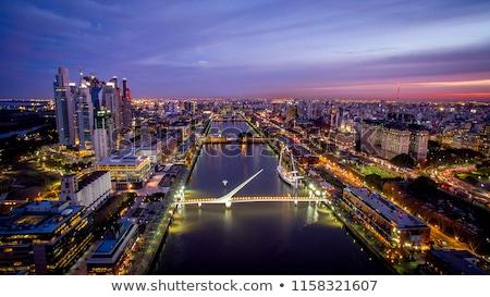 Sziluett Buenos Aires éjszaka kilátás Argentína ház Stock fotó © Spectral