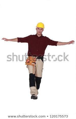 ремесленник изолированный белый баланса человека работник Сток-фото © photography33