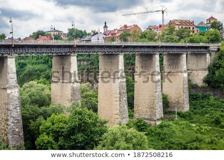 bridge over smotrych river stock photo © petrmalyshev