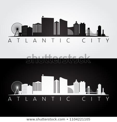 Stok fotoğraf: Panorama · şehir · New · Jersey · ufuk · çizgisi · ön · plan