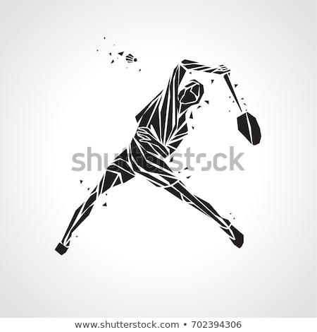 abstract badminton icon Stock photo © pathakdesigner