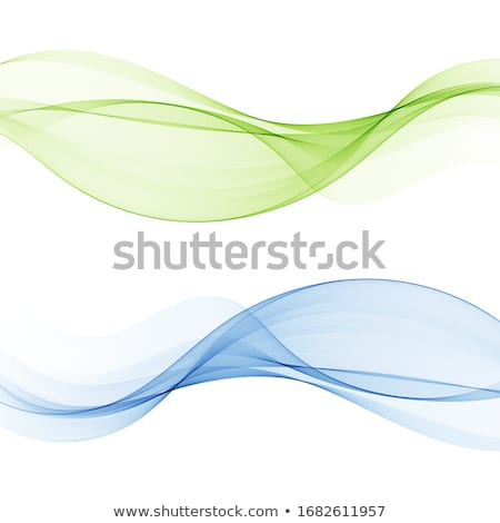 Abstract green curve lights vector background. Stock photo © tuulijumala