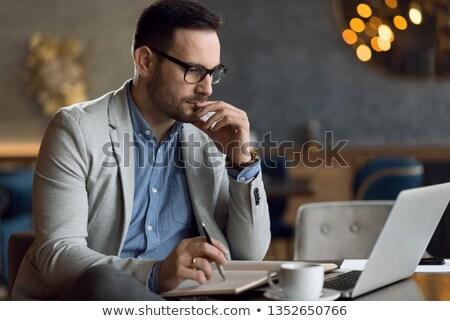濃縮された · ビジネスマン · 職場 · プロファイル · 表示 · マネージャ - ストックフォト © wavebreak_media