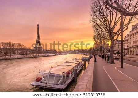 nehir · Paris · gökyüzü · bulutlar · göz · Bina - stok fotoğraf © wavebreak_media