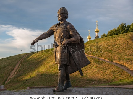 Bronzo scultura lavoro lavoro statua lavoratori Foto d'archivio © phbcz