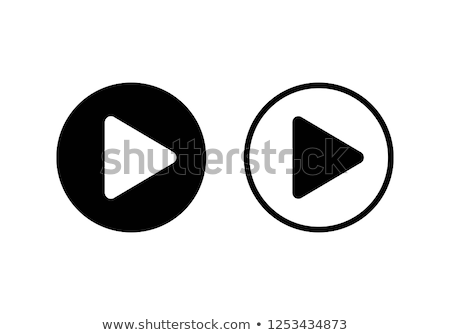 Black Media Stop and Play Buttons with Shadow Stock photo © liliwhite