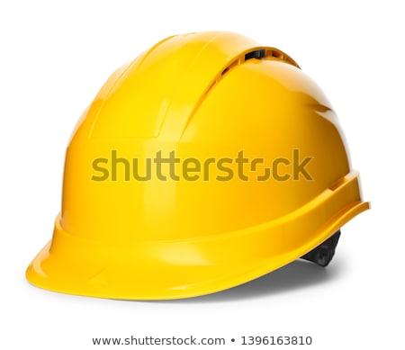 безопасности · первый · желтый · белый · работу - Сток-фото © alphababy