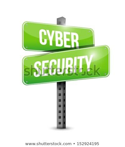 Secure Concept. Information Security Waymark. Stock photo © tashatuvango