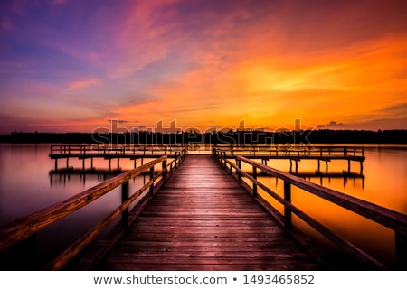 Late evening on the lake Stock photo © azjoma