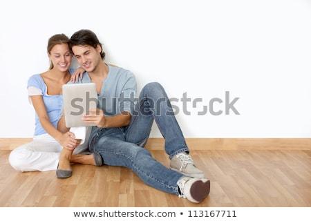 Mulher branco piso cópia espaço sensual Foto stock © Nobilior