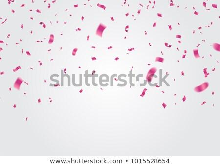 розовый конфетти белый рождения пространстве группа Сток-фото © marylooo