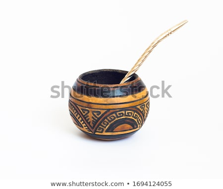 Companheiro comida madeira metal beber Foto stock © elxeneize