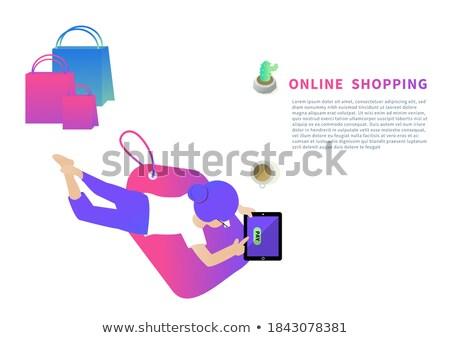 Ligne bancaires bleu puzzle affaires internet Photo stock © tashatuvango