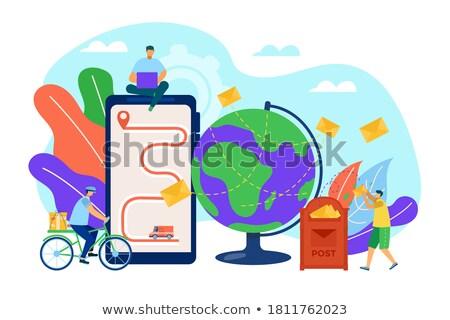 Carteiro envelope e-mail assinar isolado computador Foto stock © Kirill_M