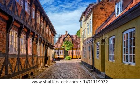 Stadsgezicht Denemarken vierkante middeleeuwse stad oude Stockfoto © faabi