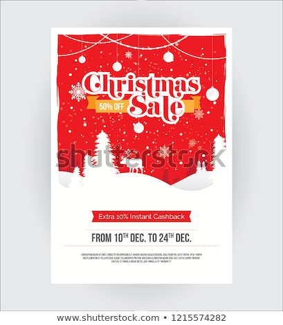 christmas offer in red star banner stock photo © marinini