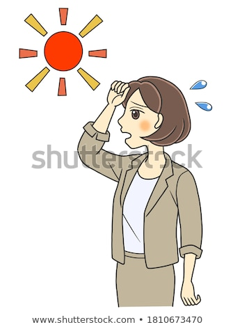 Woman in white upper suit look outside Stock photo © vetdoctor