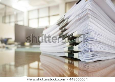 pénzügyi · táblázatok · iratok · különböző · asztal · laptop - stock fotó © pressmaster