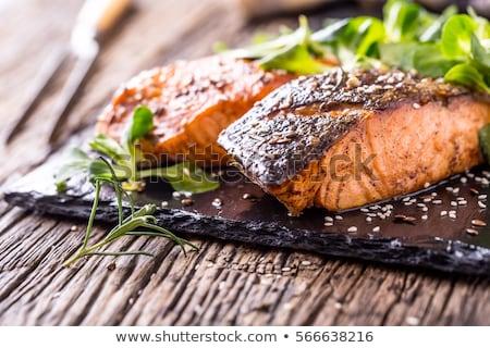 лосося соус рыбы лимона Салат Сток-фото © Virgin