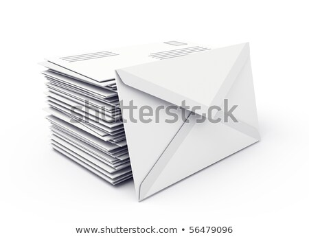 Buzón mensaje ilustración diseno blanco resumen Foto stock © alexmillos