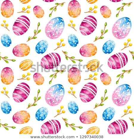 пасхальное яйцо Пасху текстуры продовольствие аннотация стали Сток-фото © natika