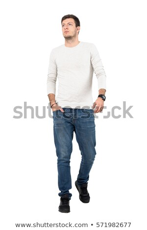 Portrait Of Man Wearing White Vest Stock photo © monkey_business